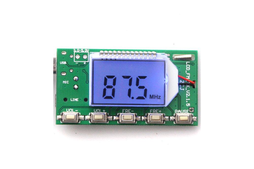 DSP PLL FM Transmitter Module - USB/Aux-In - 100mW 7