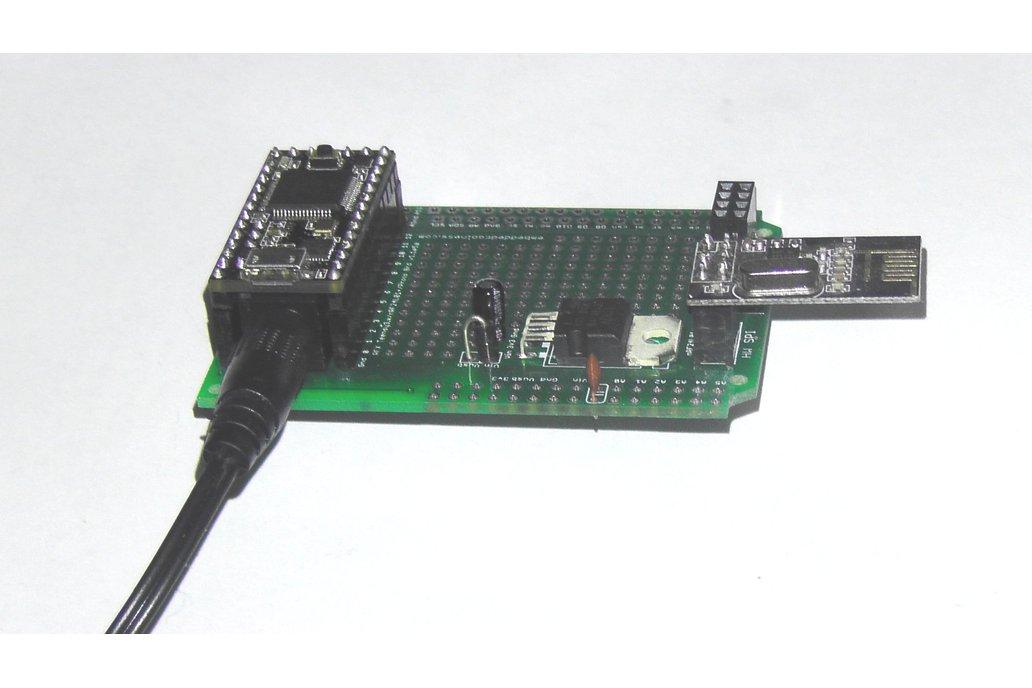Teensy 3/LC Proto board, Arduino Shield, nRF24L01+ 4