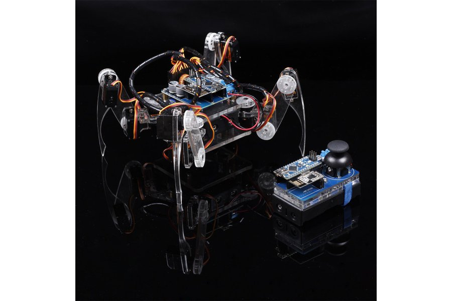 Crawling Quadruped Robot Kit for Arduino