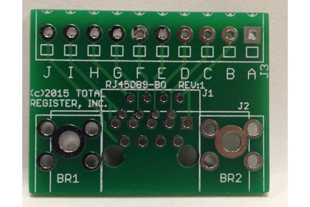 RJ45/DB9 Breakout board (BLANK PCB) 1