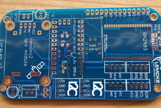 LoRaLem RN2483 LoRaWAN development board v2