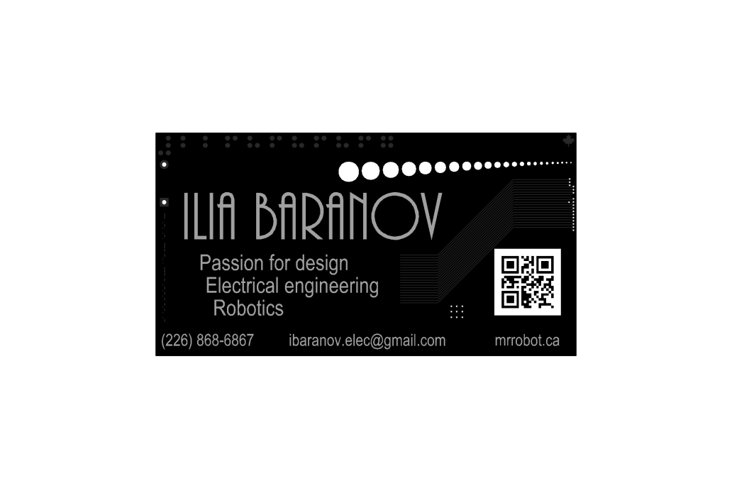 10x Custom Pcb Business Card From Mr Robot On Tindie