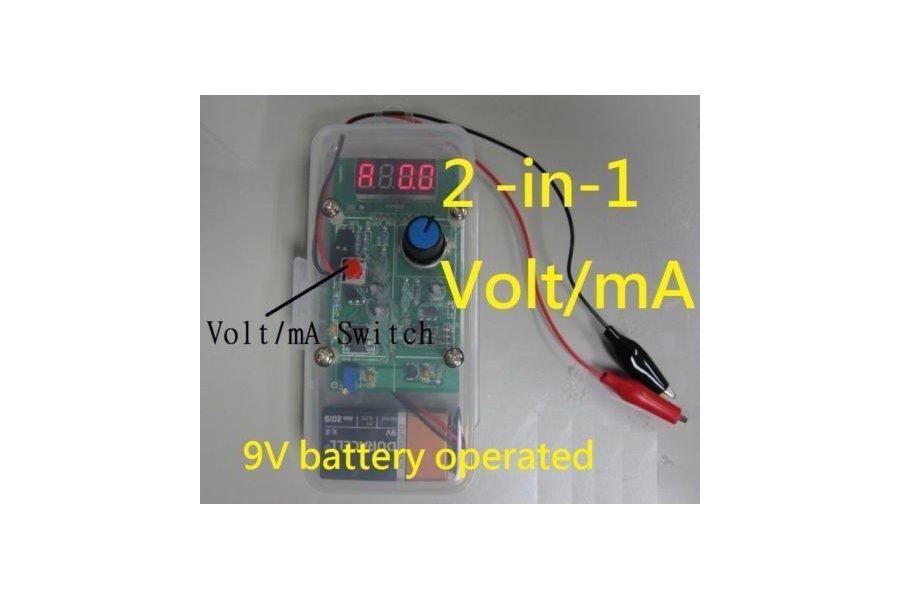 2-in-1 0-24mA loop simulator/0-10V generator