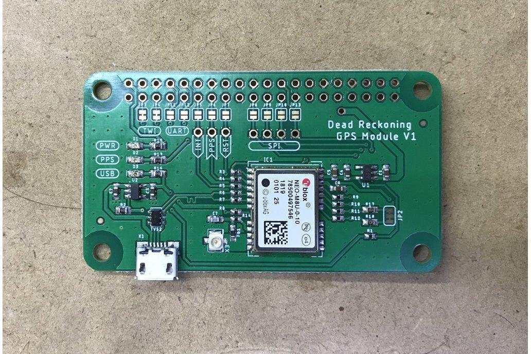 GPS Dead Reckoning Board - NEO-M8U - RPi 1