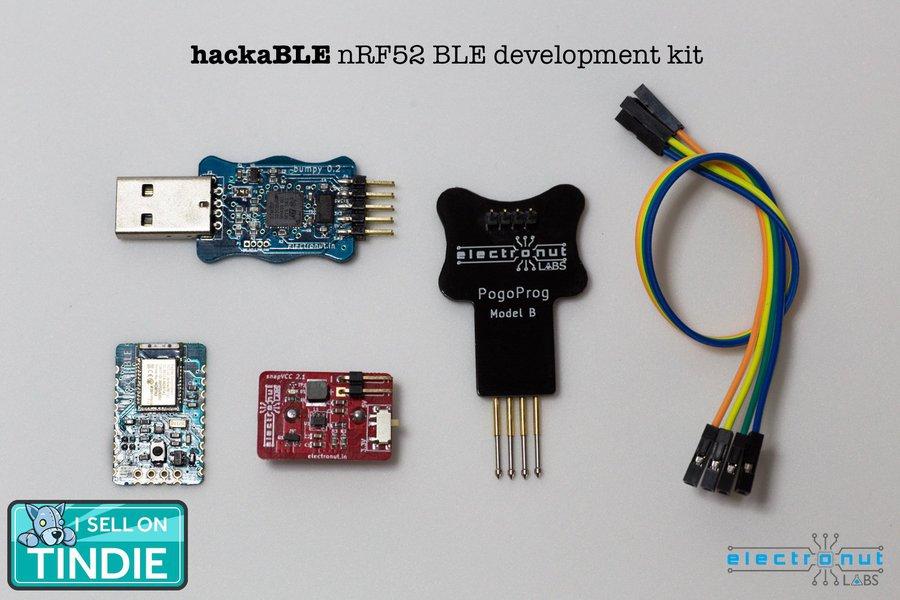 hackaBLE - tiny nRF52832 BLE development board