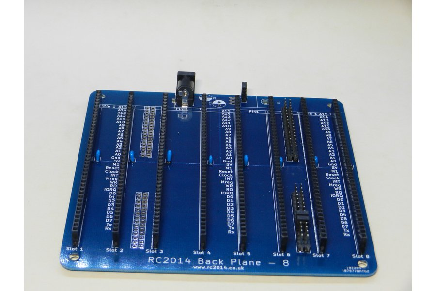 Backplane 8 For RC2014 - Z80 Homebrew Computer