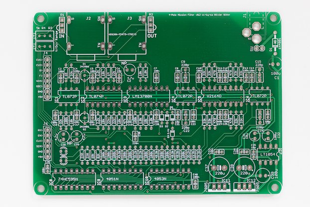 Shruthi 4-Pole Mission Filter PCB