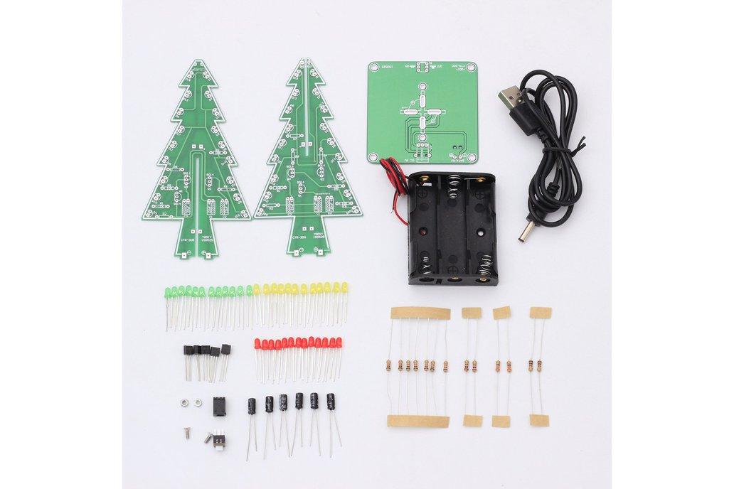 DIY Flashing LED Christmas Tree Circuit Kit(7212) 5