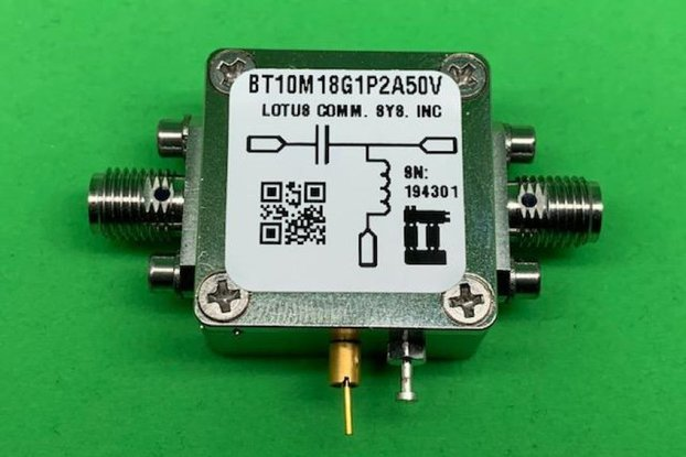 Bias Tee Broadband 10 MHz to 18 GHz 50V DC 1.2A