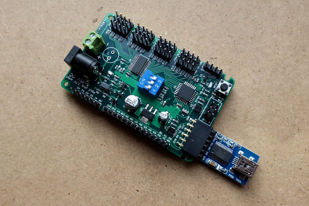 ATmega 328P development board with 16-channel PWM 4
