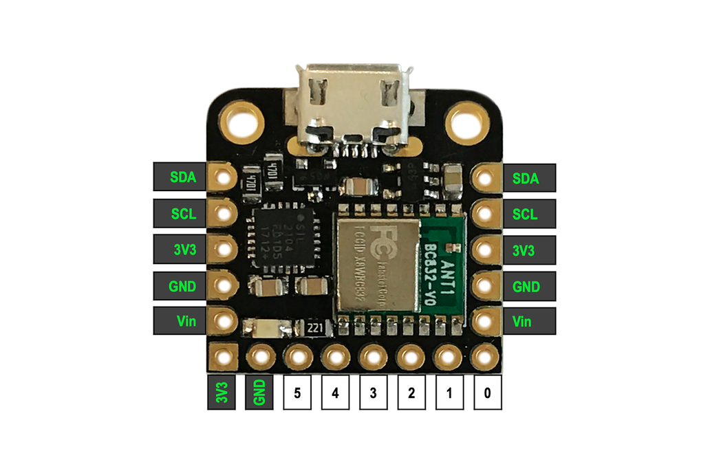 Microcontroller: Arduino-compatible + Built-in BLE 2