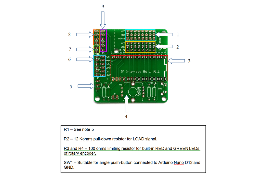 JF Interface Board 1 - Bare PCB Board with headers 1