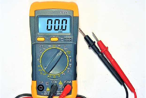 Multi-Meter with Light and Continuity Tester