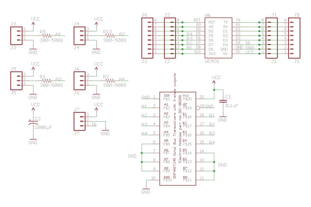Wemos D1 Mini ESP8266 LED & Level Shifter Shield 15