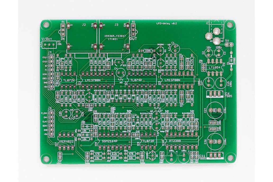 Shruthi LP2 + Delay Filter PCB 1