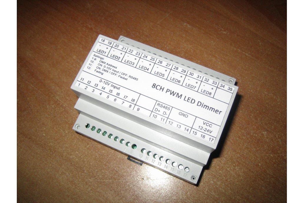 8ch LED dimmer (0-10V, DMX, Modbus) 1
