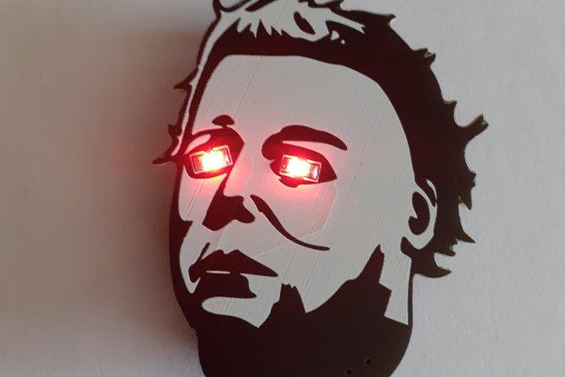 Michael Myers Halloween inspired LED Badge.