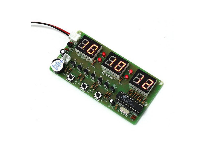 C51 Electronic Clock Suite DIY Kits(2042)