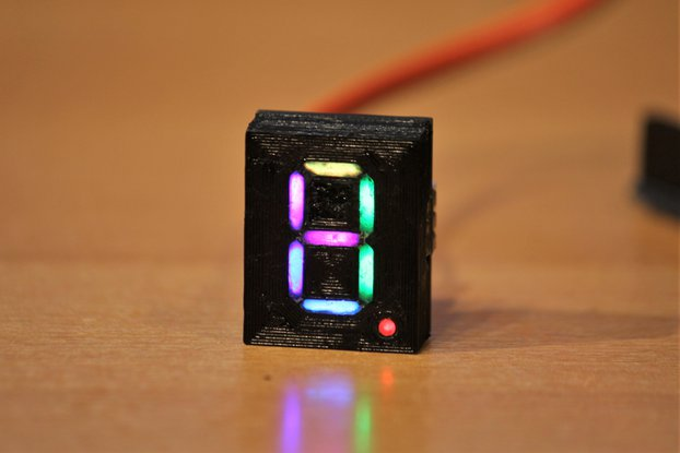 Addressable RGB 7-Segment-Display 20x25mm