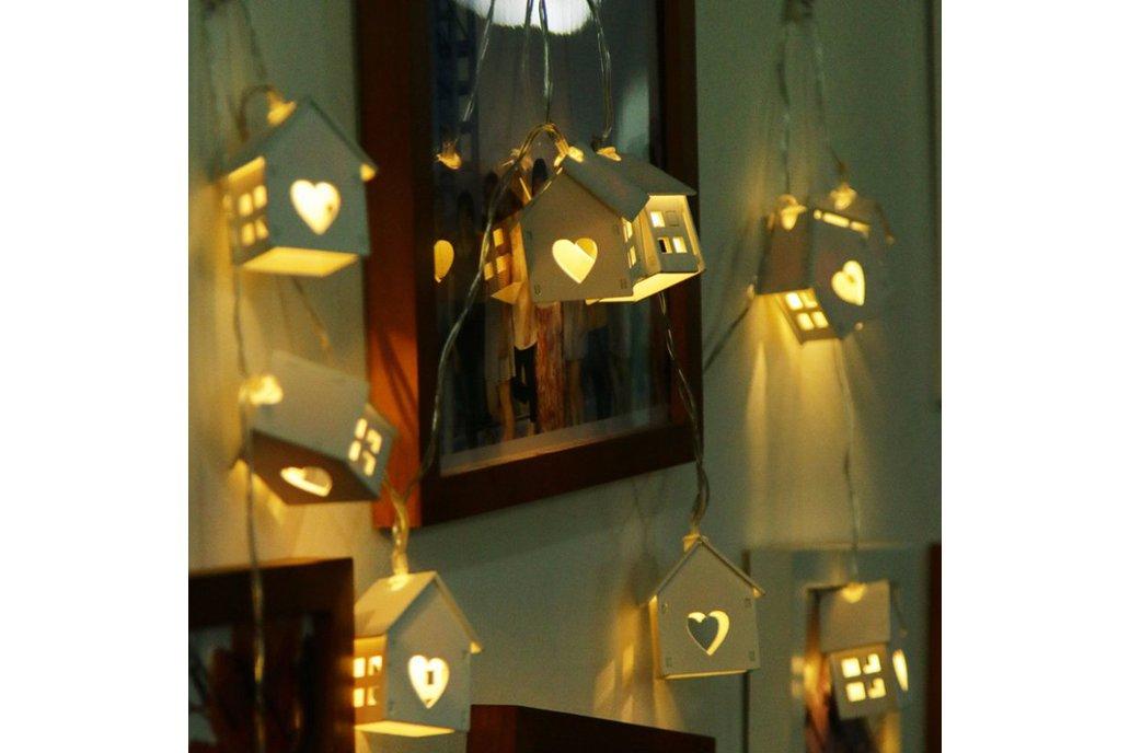 LED Novelty Wood House 1