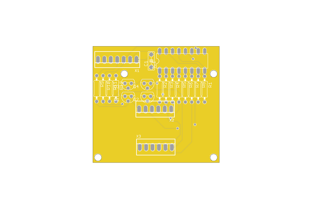 7-segment 4-digit  LED display - PCB only 1
