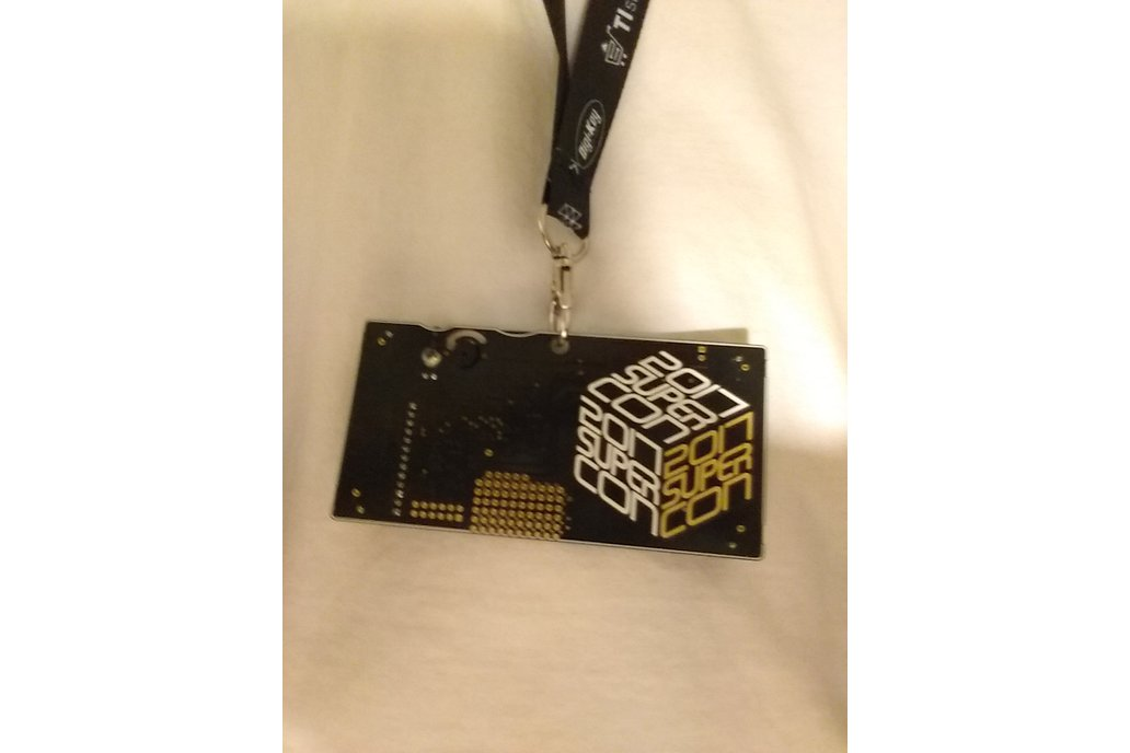 2017 Hackaday Superconference Badge 15