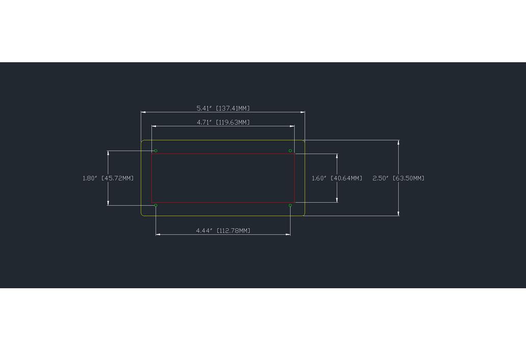 """Adafruit 1.2"""" 4-Digit 7-Segment Display Bezel 6"""