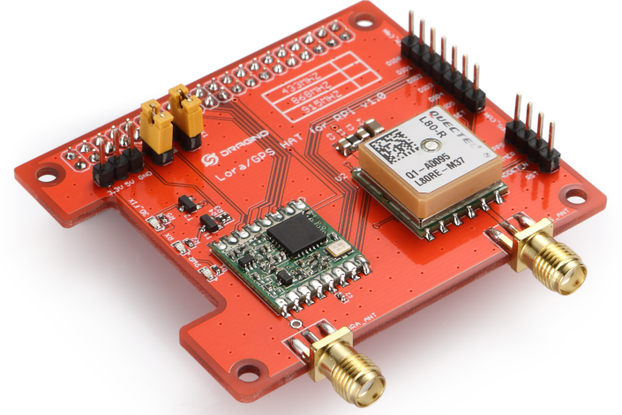 Raspberry Pi HAT featuring GPS and LoRa® technolog
