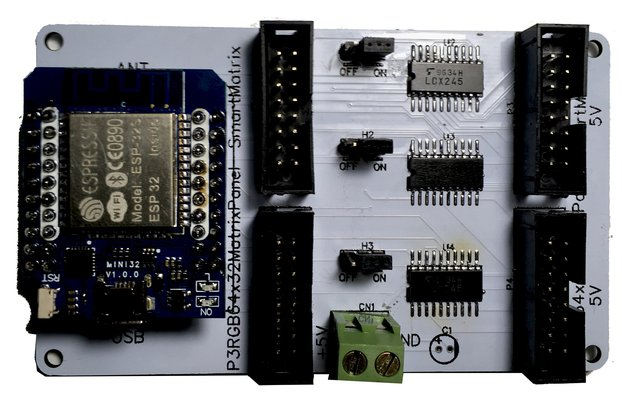 RGB MATRIX PANEL SHIELD FOR ESP32