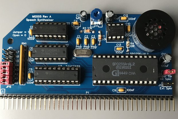 MG005 Speech Synthesiser - Designed for RC2014