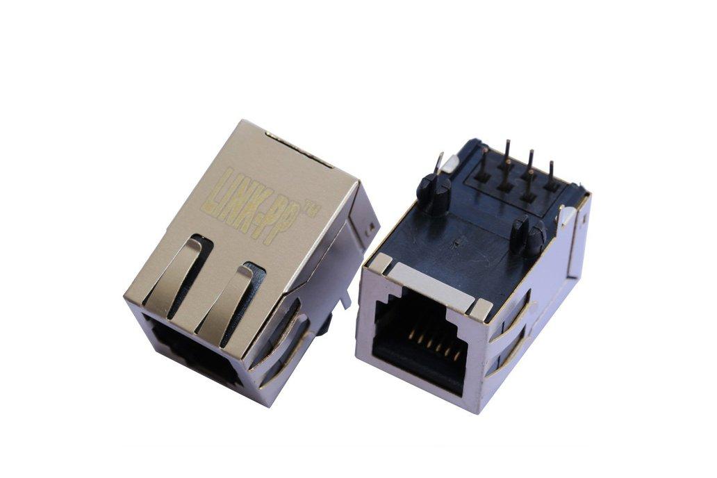 1X1 Port 6P6C RJ11 Modular Socket Female Connector 1
