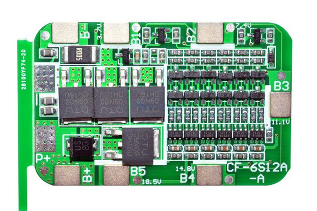 Protection Board For 6Pack 18650 Lithium Battery