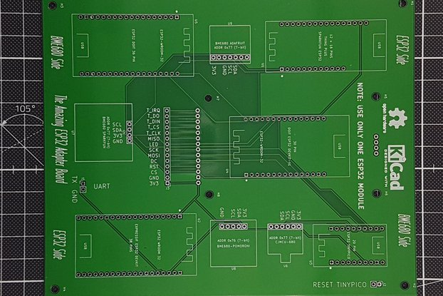 Common ESP32's on One Adapter Board