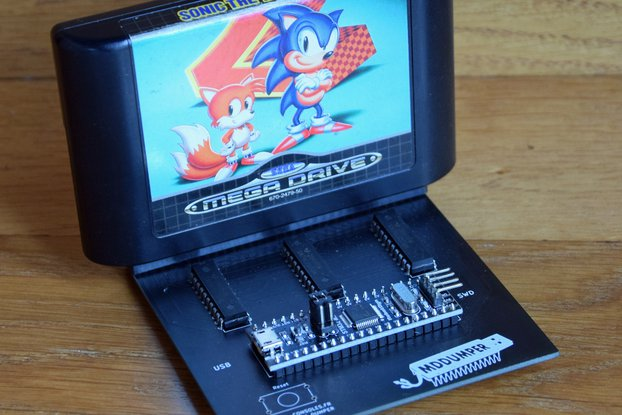 MD Dumper (USB Megadrive cartridge Reader/Writer)