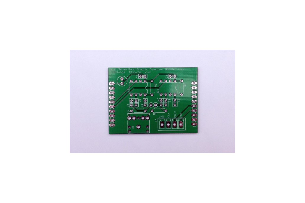 Dual 7 Band Audio Spectrum Analyzer BoosterPack PCB