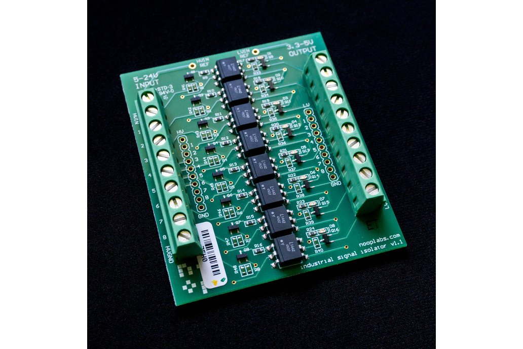 8 ch Opto Isolator board 5-24VDC in 3.3-5VDC out 5