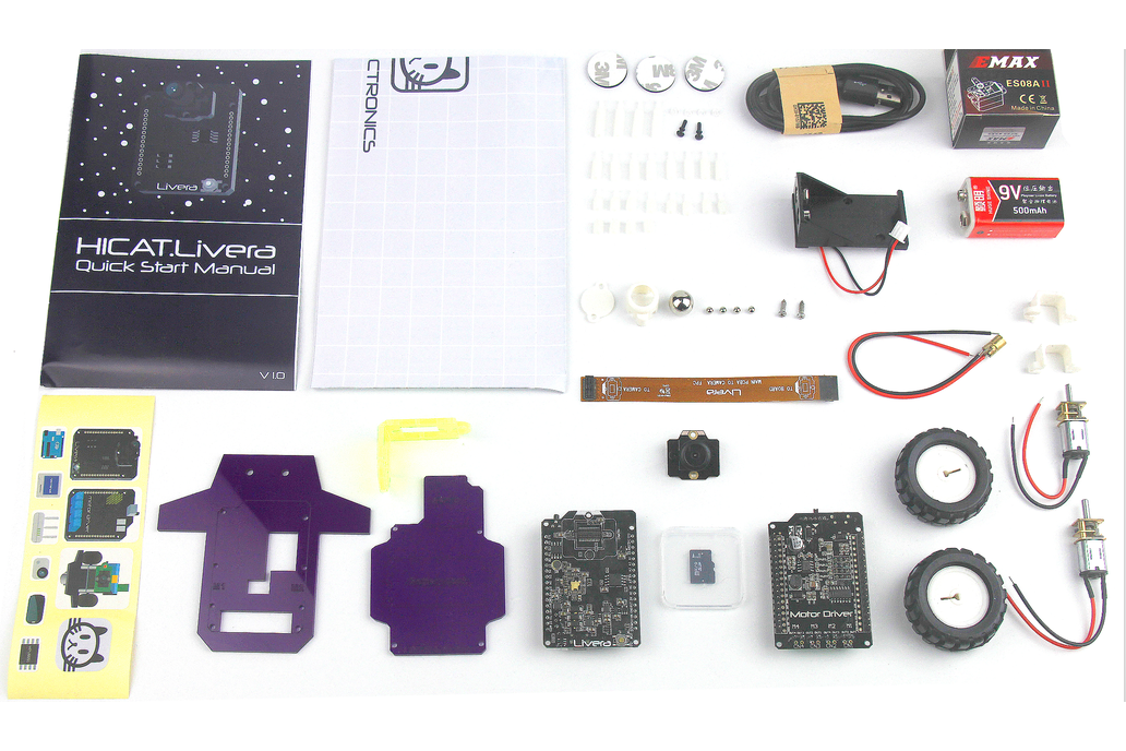 HICAT Livera Arduino-Compatible Camera Robot Kit 2