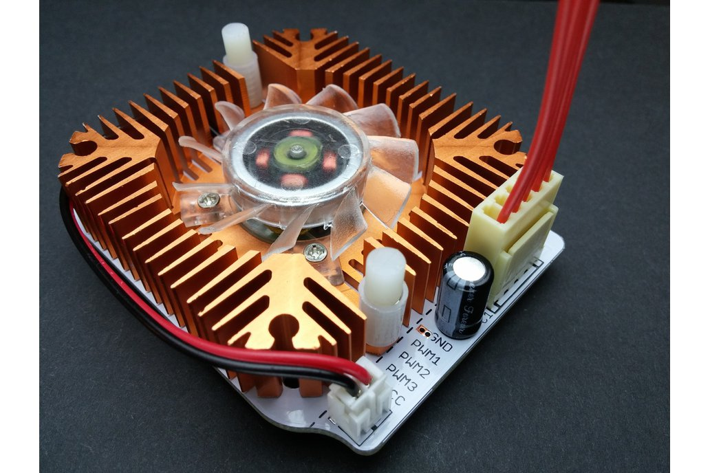 10W High Power RGB LED Module With Heatsink & Fan 6