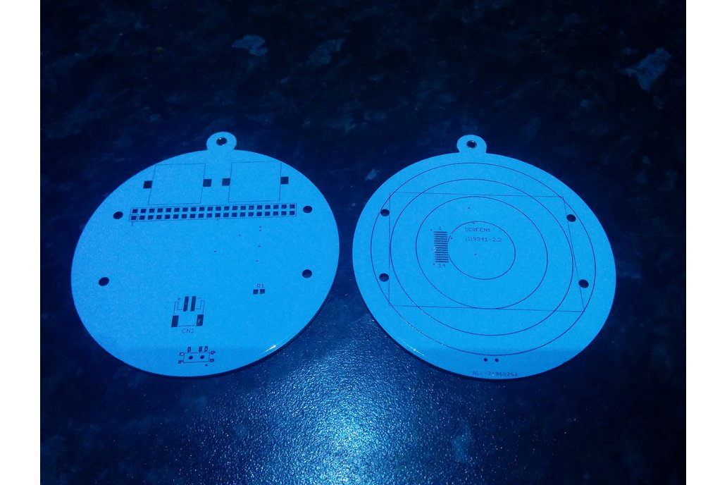 Christmas bauble PCB for the Raspberry Pi 1