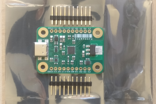 USB Type-C / PIC32 Breakout and Development Board