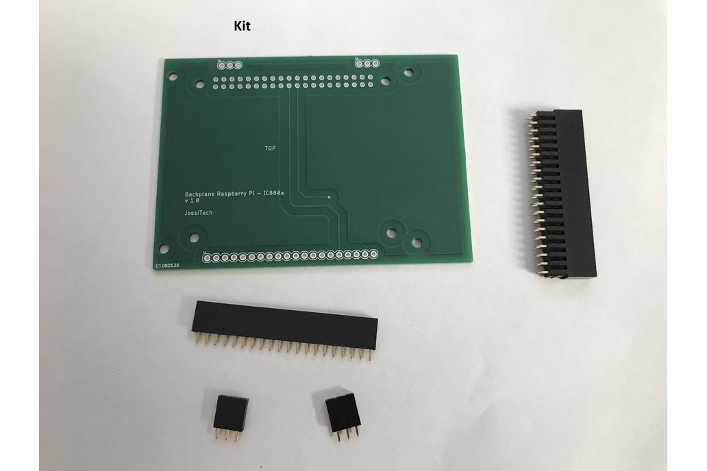Backplane for connecting IC880a with Raspberry PI 1