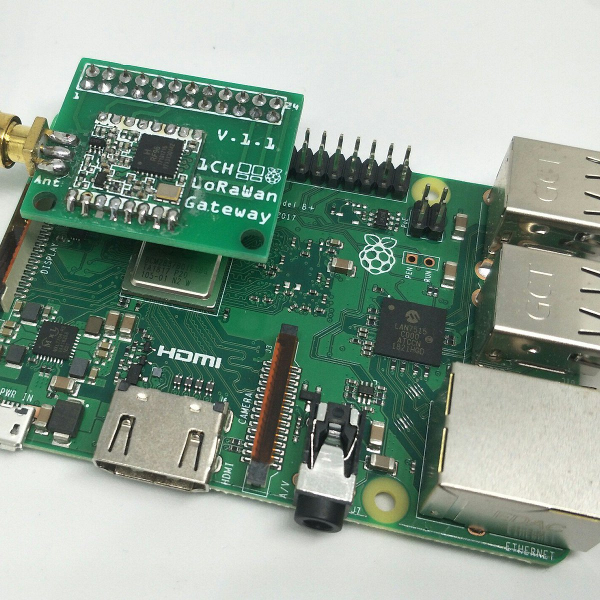 1 Channel Lorawan Gateway Shield For Raspberry Pi From M2m Shop On Wiringpi Without Root Tindie