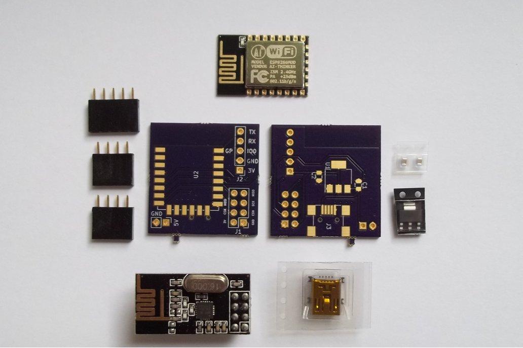 ESP8266 + nRF2401 wireless development kit 2