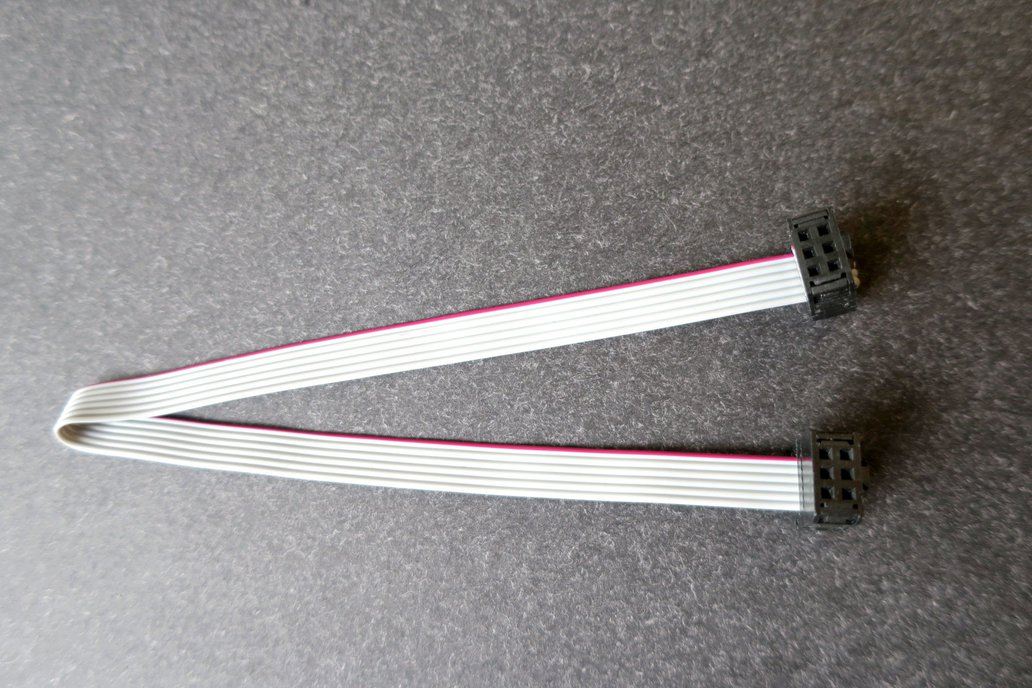 100-mil 6pin 2x3 IDC flat cable for e.g. ATMEL-ICE 1