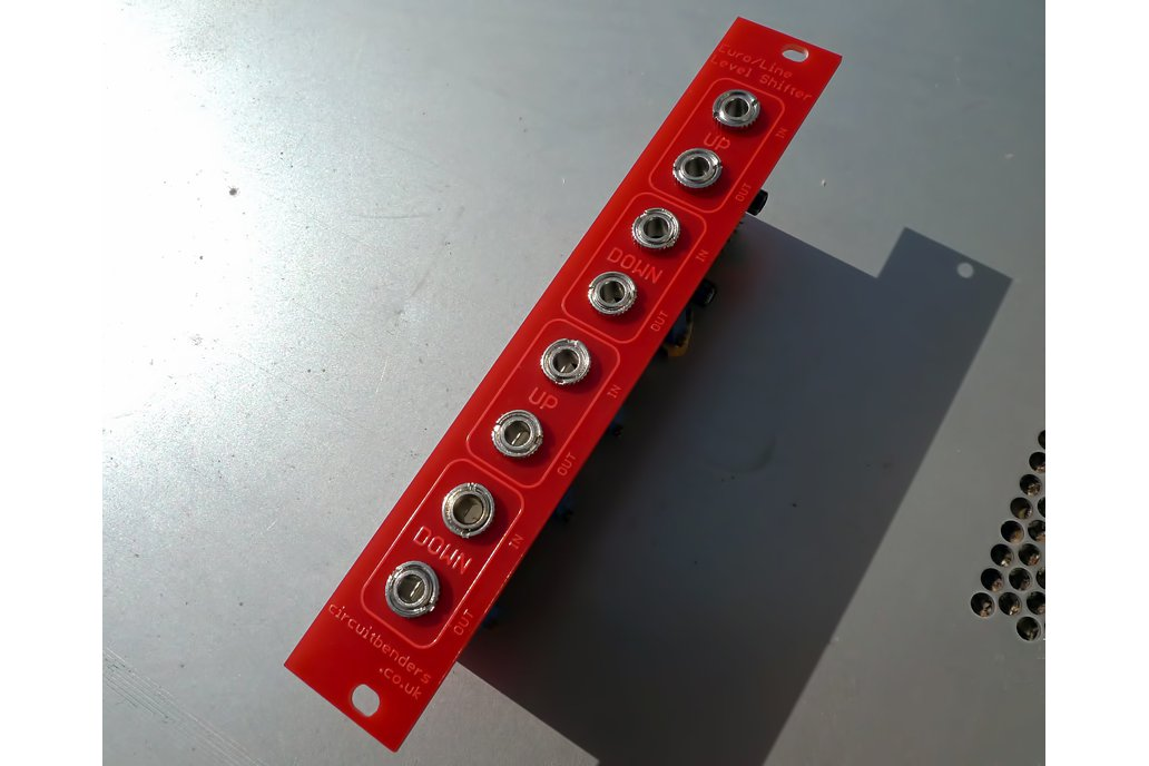Dual up/down line to Eurorack level shifter module 1