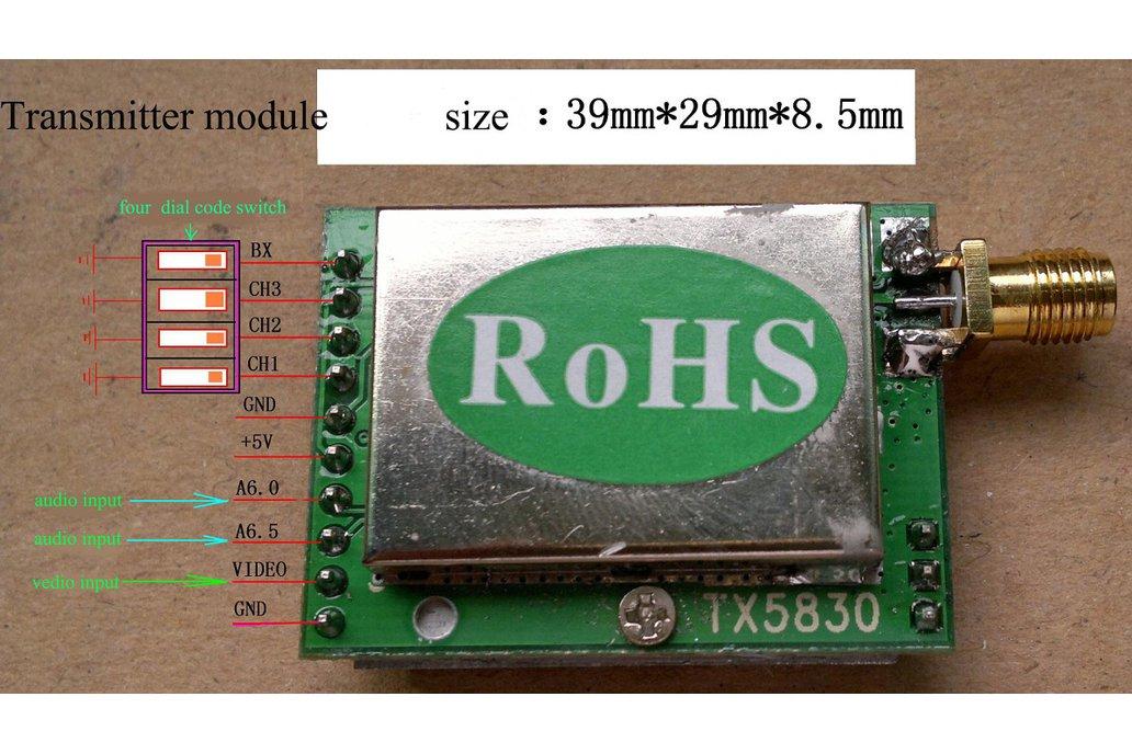 1W 5.8G high power wireless radio module kit 4