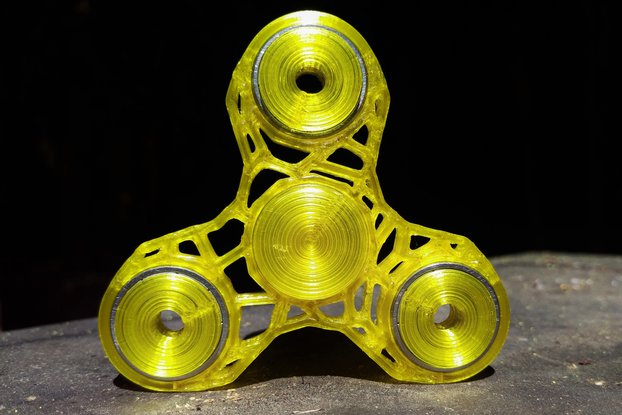 """The Voronoi"" Tri Spinner 3d Printed Fidget Spinne"