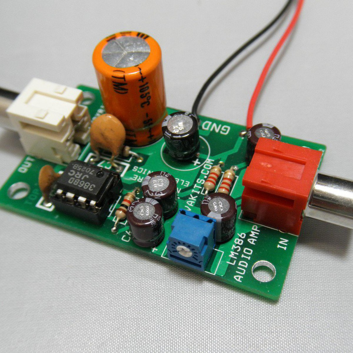 Electret Microphone Amplifier Kit 1695 Em From Nightfire Audioamp Board The Features A Power Lm386 Electronics Llc On Tindie