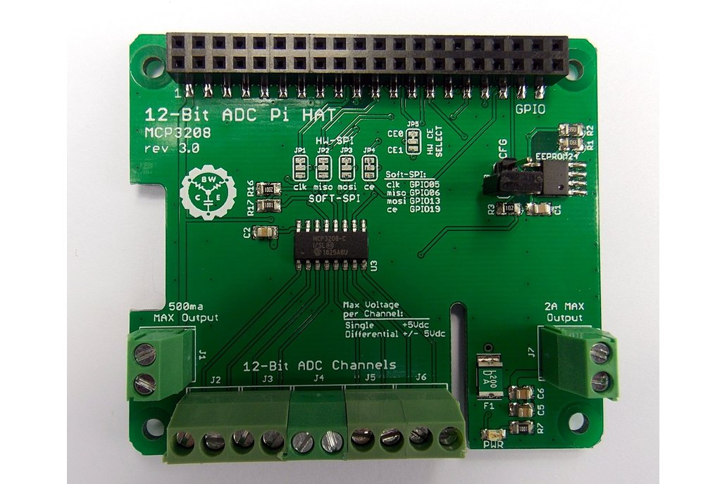 12-Bit/8-Channel ADC HAT for Raspberry Pi v3.0 1