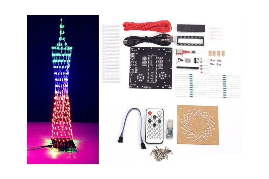 DIY Kit Colorful LED Tower Display(12320)
